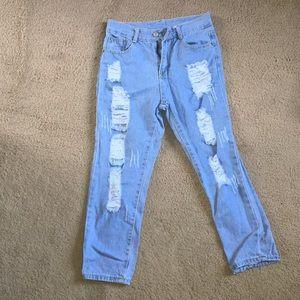 Denim - Short boyfriend jeans